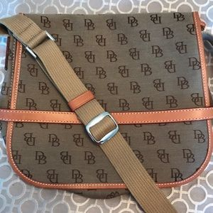 Dooney and Bourke crossbody messenger bag.